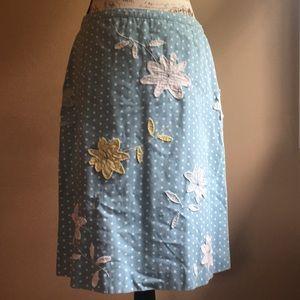 Boden A-line Appliqué Skirt